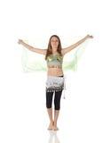 Menina de dança nova da barriga Foto de Stock Royalty Free