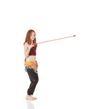 Menina de dança nova da barriga Fotografia de Stock