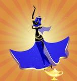 menina de dança oriental ilustração stock