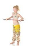 Menina de dança nova da barriga Imagens de Stock Royalty Free