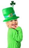 Menina de dia de St Patrick feliz Fotos de Stock Royalty Free