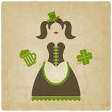 Menina de dia do St Patricks Foto de Stock Royalty Free