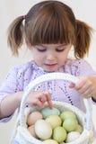 Menina de Easter fotografia de stock