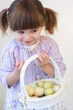 Menina de Easter Imagens de Stock