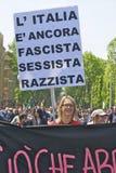 Menina de encontro ao fascismo imagens de stock royalty free