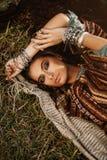 Menina de encontro da hippie Imagens de Stock