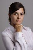 Menina de escritório de sorriso Imagens de Stock