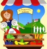 Menina de exploração agrícola orgânica Fotos de Stock Royalty Free