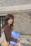 Menina de faculdade de sorriso Fotografia de Stock