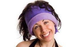 Menina de faculdade fresca com um sorriso engraçado Imagens de Stock Royalty Free