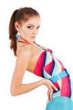 Menina de fascínio bonita no swimsuit foto de stock royalty free