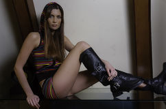 Menina de Fashin Fotos de Stock Royalty Free