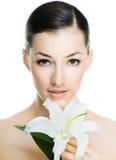 Menina de flor imagem de stock royalty free