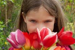 Menina de flor Imagem de Stock