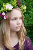 Menina de flor Imagens de Stock