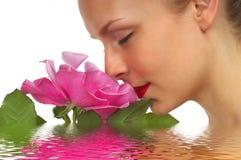 Menina de flor 5 Imagens de Stock Royalty Free