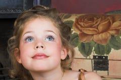 Menina de flor fotografia de stock