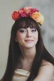 Menina de flor bonita Fotos de Stock