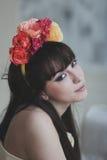 Menina de flor bonita Imagens de Stock