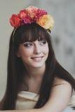 Menina de flor bonita Imagem de Stock