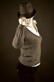 Menina de Gangsta Imagens de Stock Royalty Free