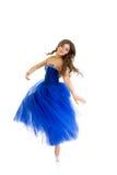 Menina de giro do dançarino isolada Imagens de Stock
