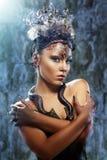 Menina de Gorgon no Dungeon imagens de stock