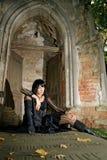 Menina de Goth Fotografia de Stock