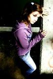 Menina de grito Fotografia de Stock