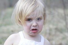 Menina de grito Imagens de Stock