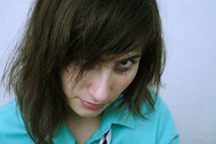 A menina de grito Imagens de Stock