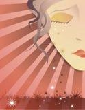 Menina de grito com estrelas de queda Foto de Stock Royalty Free