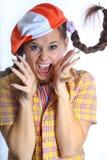 Menina de grito da beleza Imagem de Stock Royalty Free