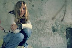 Menina de Grunge Fotos de Stock