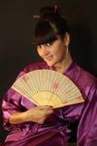 Menina de gueixa bonita Fotos de Stock Royalty Free