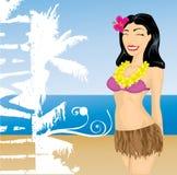 Menina de Havaí Fotografia de Stock