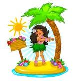 Menina de Hula Fotografia de Stock Royalty Free