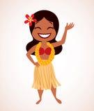 Menina de hula de Havaí ilustração stock