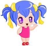 Menina de Manga Imagens de Stock Royalty Free