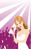 Menina de partido Imagem de Stock Royalty Free