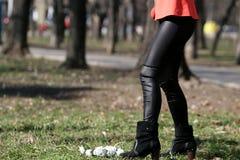 Menina de passeio Imagem de Stock