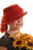 Menina de Red Hat Foto de Stock Royalty Free