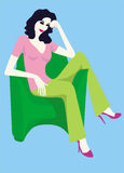 Menina de relaxamento ilustração royalty free