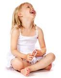 Menina de riso fotos de stock royalty free