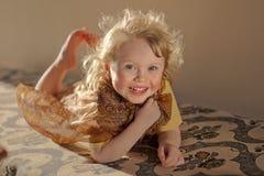 Menina de riso Fotografia de Stock