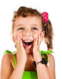 Menina de riso Fotografia de Stock Royalty Free
