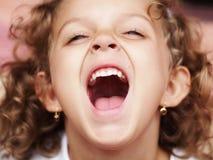 Menina de riso Fotos de Stock