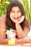 Menina de riso Imagens de Stock Royalty Free
