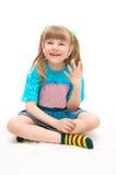 A menina de riso Fotografia de Stock
