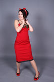 Menina de riso do pinup Fotos de Stock Royalty Free